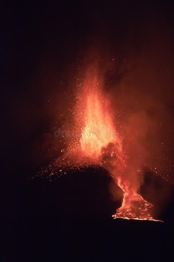 извержение etna стоковые фото
