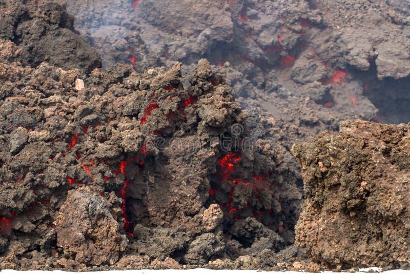 Извержение etna стоковые изображения
