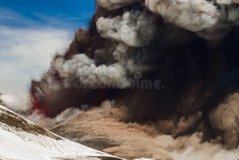 Извержение etna стоковая фотография
