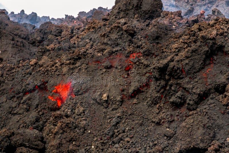 Извержение etna стоковое фото rf
