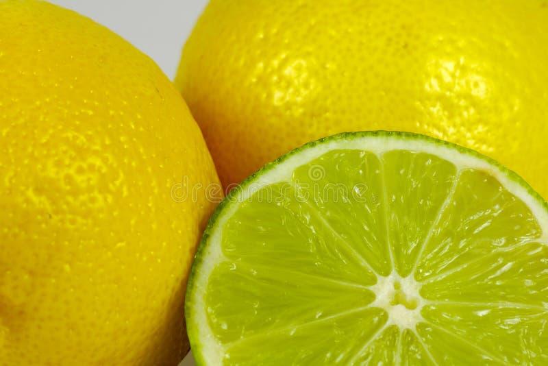 известка 2 лимонов стоковые фото
