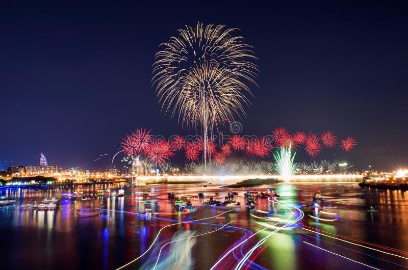 Download Известная выставка фейерверка Dadaocheng в Тайбэе Стоковое Фото - изображение: 60923004