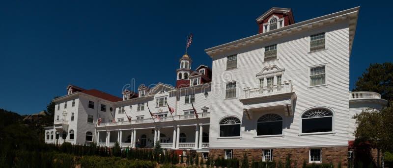 Известная гостиница Стэнли в парке Estes, Колорадо стоковое изображение rf