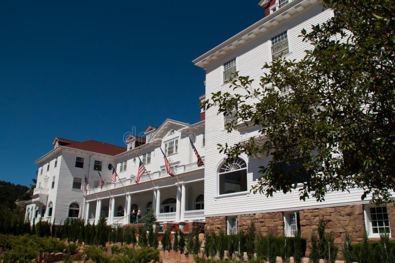 Известная гостиница Стэнли в парке Estes, Колорадо стоковые фотографии rf