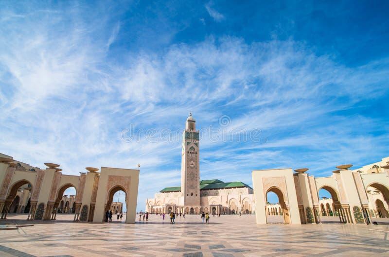 Известная мечеть Хасана II стоковое изображение