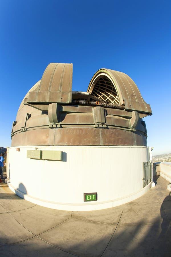 Известная обсерватория Griffith в Лос-Анджелесе стоковое фото rf