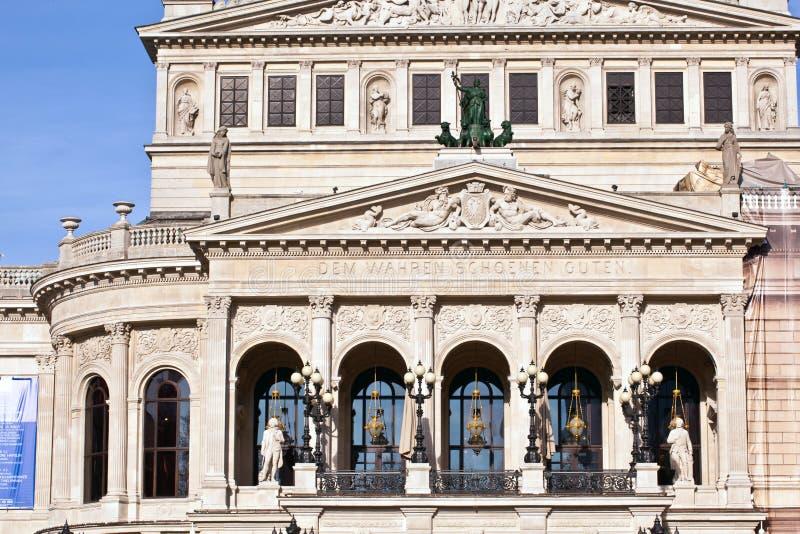 известная опера дома frankfurt стоковые изображения rf