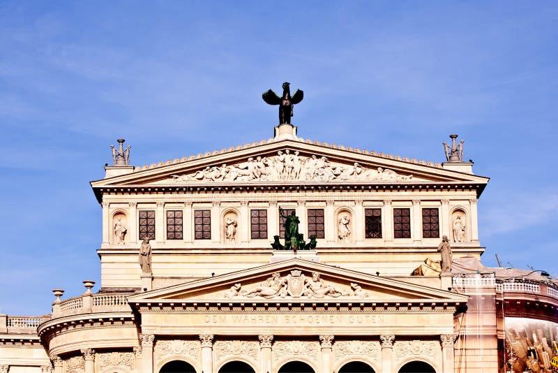 известная опера дома frankfurt стоковые фото