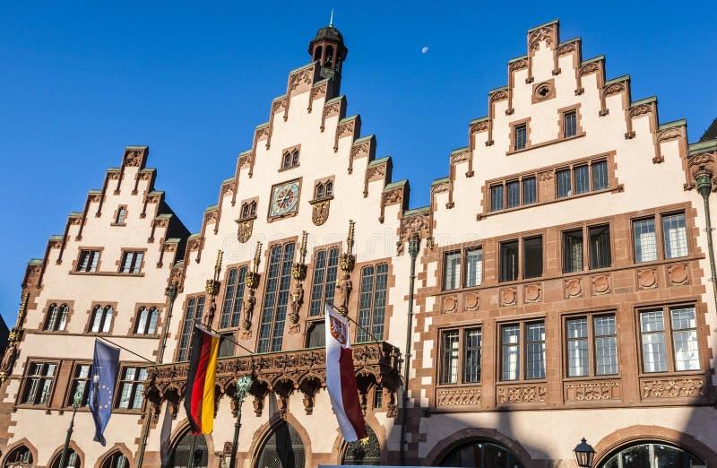 Известная ратуша на центральном месте в Франкфурте, Roemer стоковая фотография rf