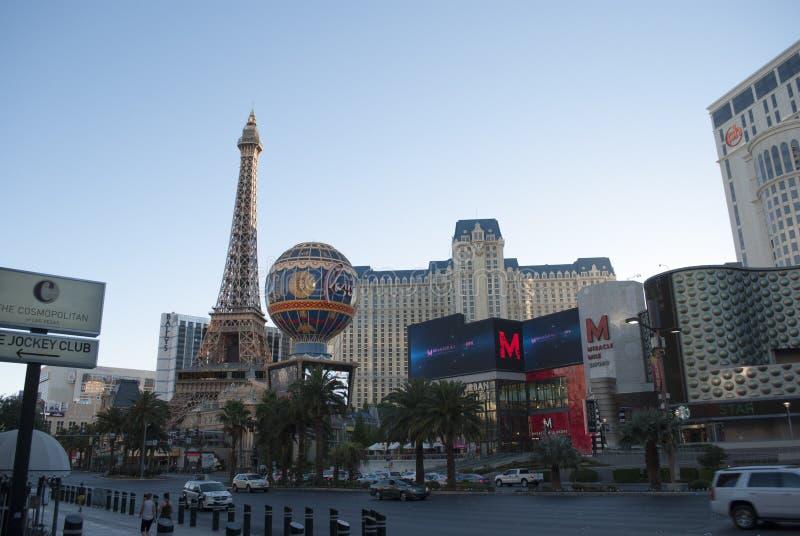 Известная улица Лас Вегас Боулевард стоковое фото rf