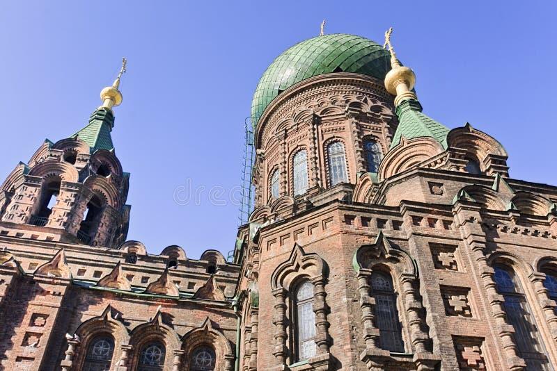 Известная церковь в Харбин, самая большая восточная православная церков церковь St Sophia в Дальнем востоке стоковое изображение
