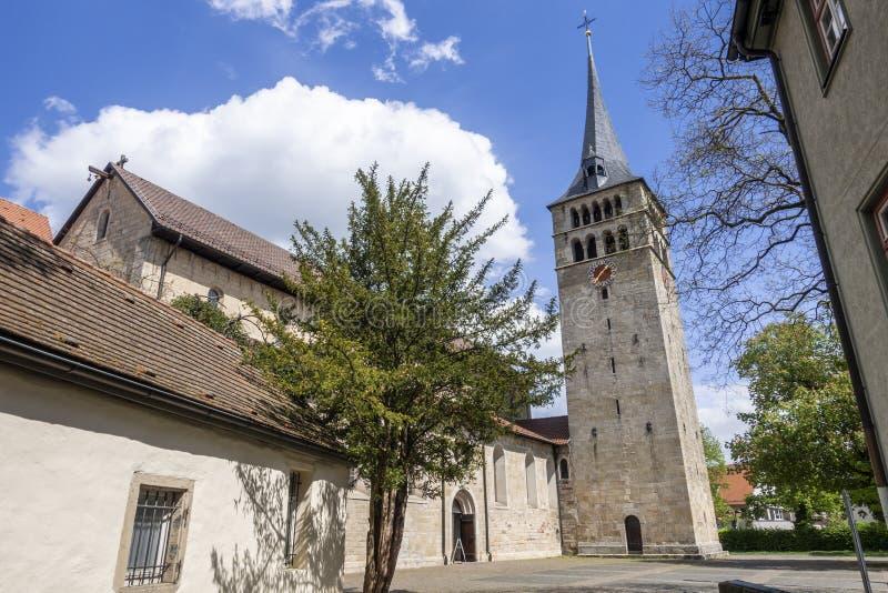 Известная церковь Martinskirche в Sindelfingen Германии стоковое изображение