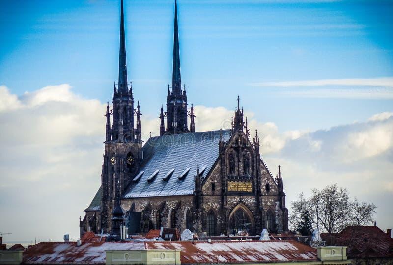Известная церковь St Peter во Брне стоковая фотография
