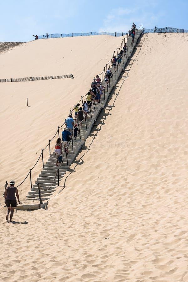 Известная дюна Pyla, самая высокая песчанная дюна в Европе стоковое изображение