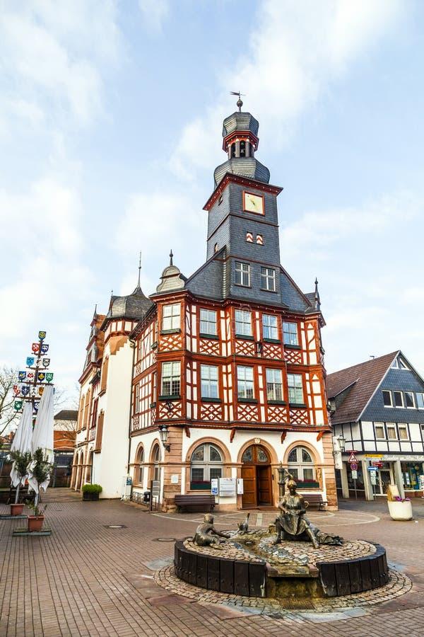 Известная timbered ратуша в Lorsch стоковое фото