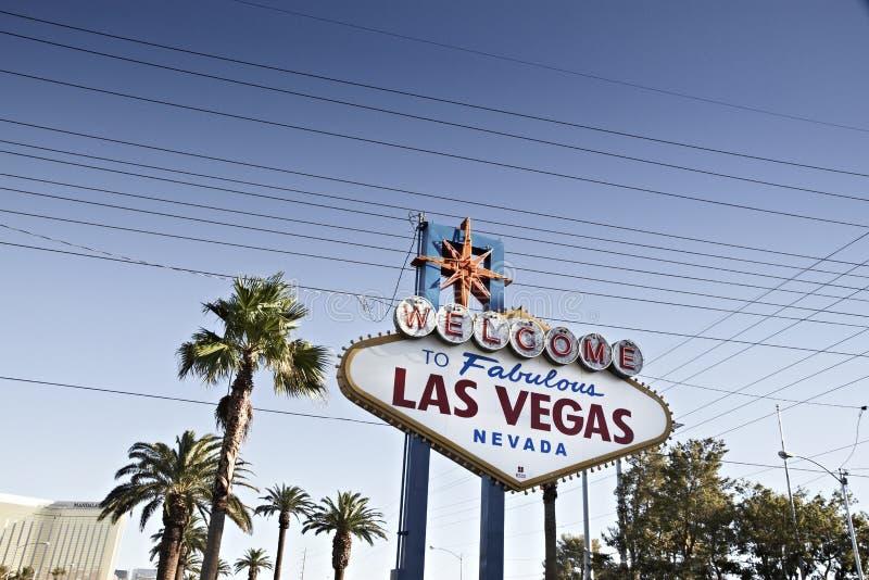 Известное гостеприимсво к знаку Лас-Вегас, Неваде, u S стоковые фотографии rf