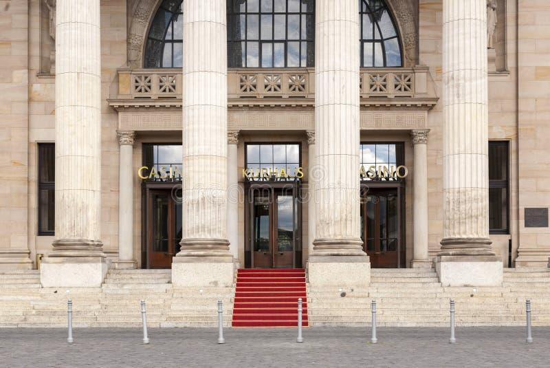 Известное историческое казино в Висбадене, Германии стоковые изображения rf