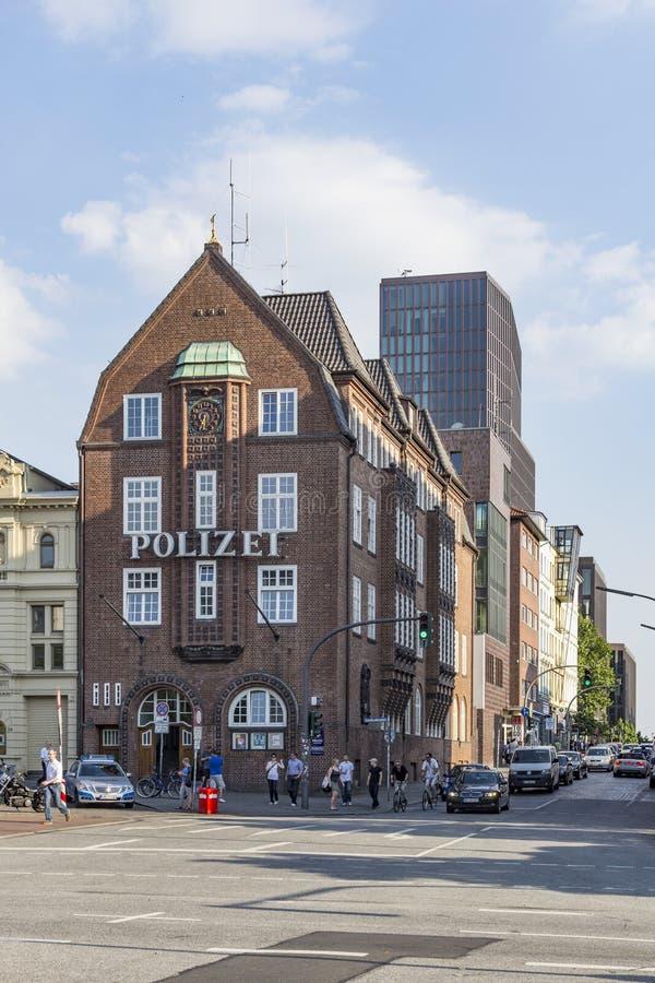 Известное отделение полици Davidswache на Reeperbahn в Гамбурге стоковое изображение rf