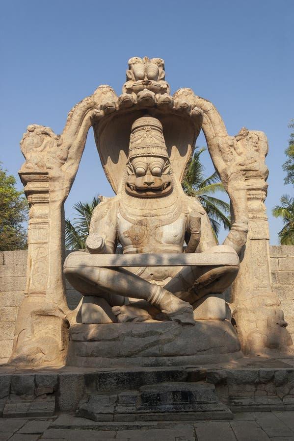 Известное Lakshmi Narasimha на hampi_Karnataka_India стоковое фото