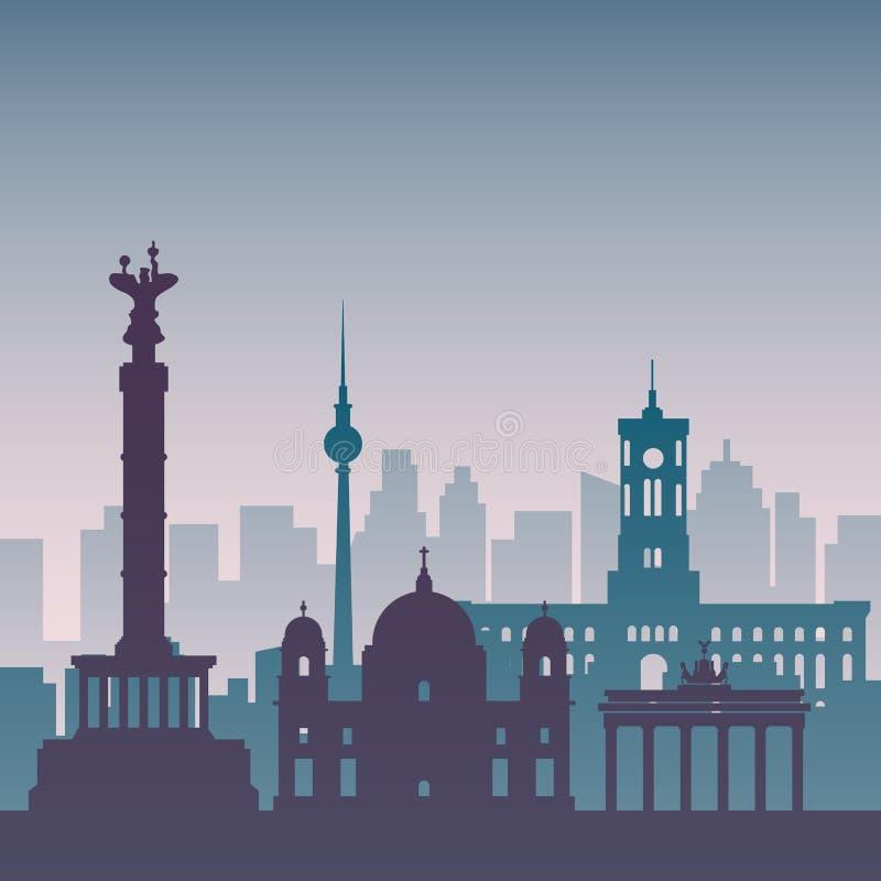 Известное scape города в цвете иллюстрация вектора