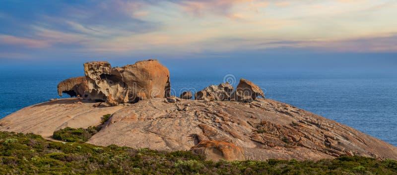 Известные замечательные утесы на заходе солнца Национальный парк гоньбы щепок, стоковое изображение