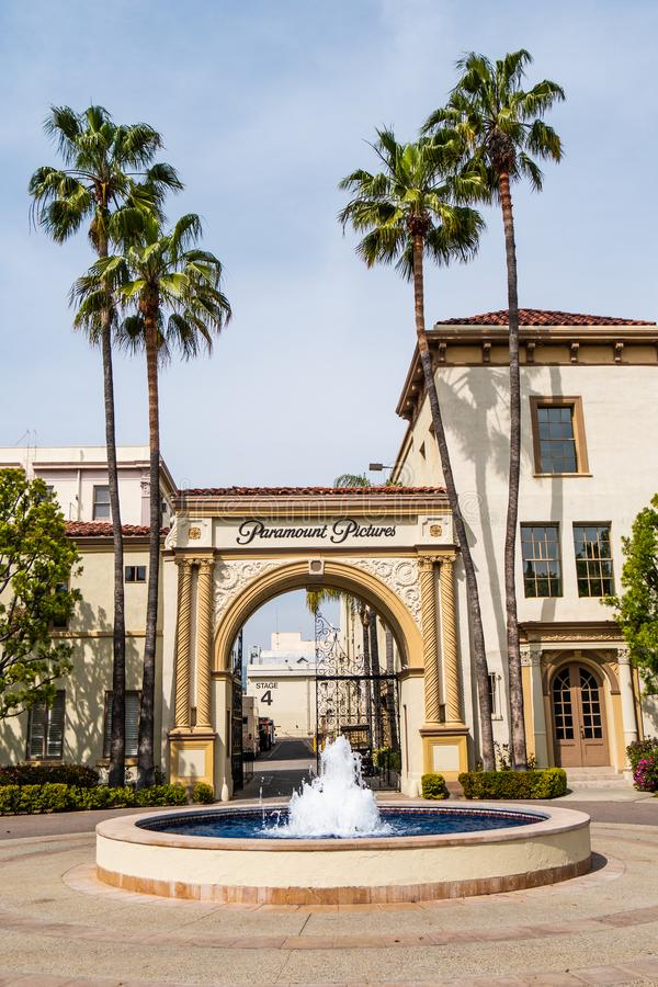 Известные киностудии Paramount Pictures на Лос-Анджелесе - КАЛИФОРНИЯ, США - 18-О стоковое изображение rf
