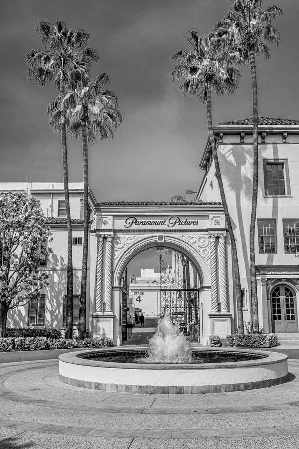 Известные киностудии Paramount Pictures на Лос-Анджелесе - КАЛИФОРНИЯ, США - 18-ОЕ МАРТА 2019 стоковое изображение