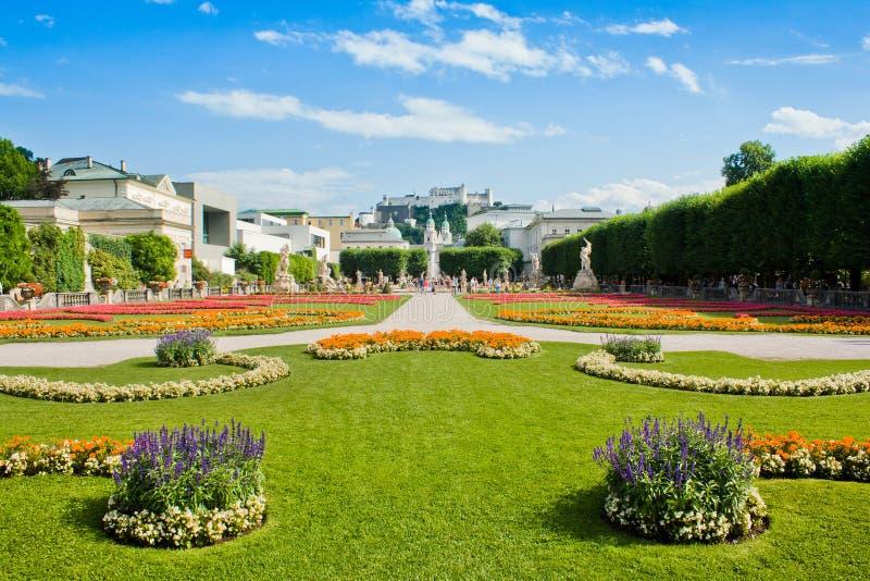 Известные сады Mirabell в Зальцбург, Австралии стоковое фото rf