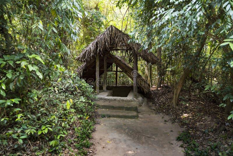 Известные тоннели хиа Cu Вьетнам стоковые изображения rf
