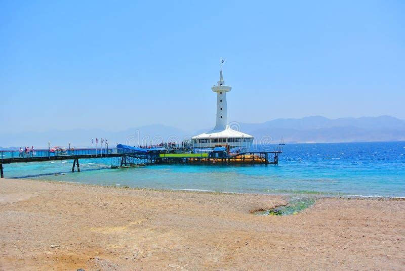 Известный аквариум Eilat на берегах Красного Моря Израиль стоковое фото
