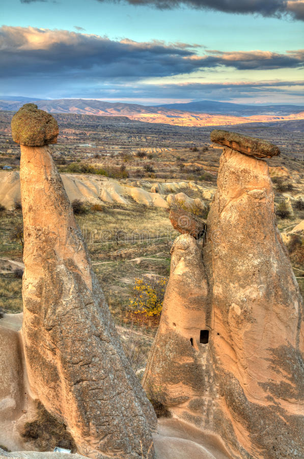 Известный город Cappadocia в Турции стоковые изображения