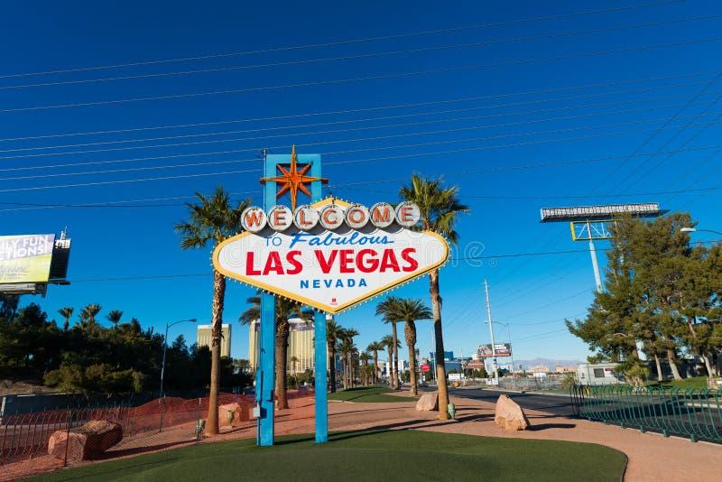 Известный знак Лас-Вегас стоковая фотография rf
