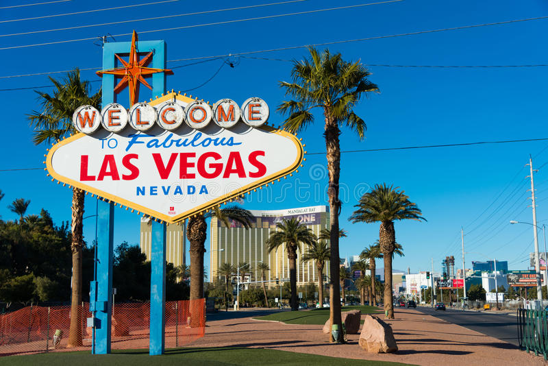 Известный знак Лас-Вегас стоковые фото