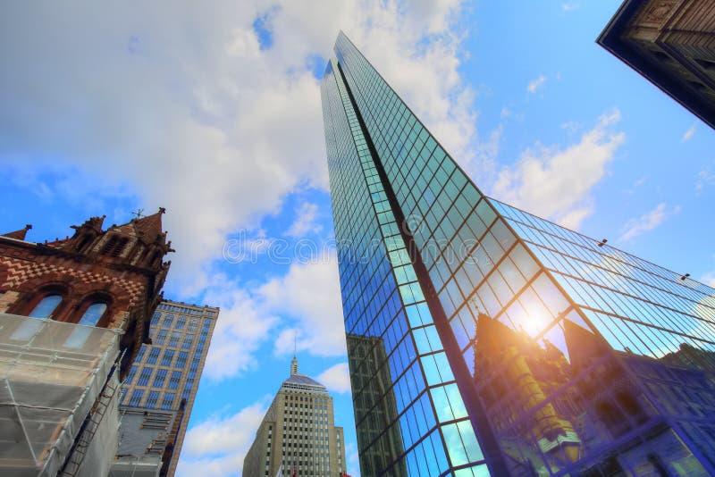 Известный квадрат Бостона Copley стоковые фото