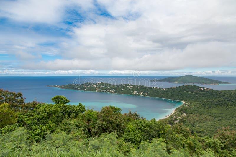 Известный пляж на острове St. Thomas стоковое фото