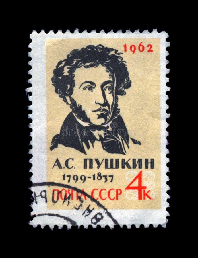 Известный русский поэт, писатель Александр Pushkin, около 1962, стоковые изображения rf