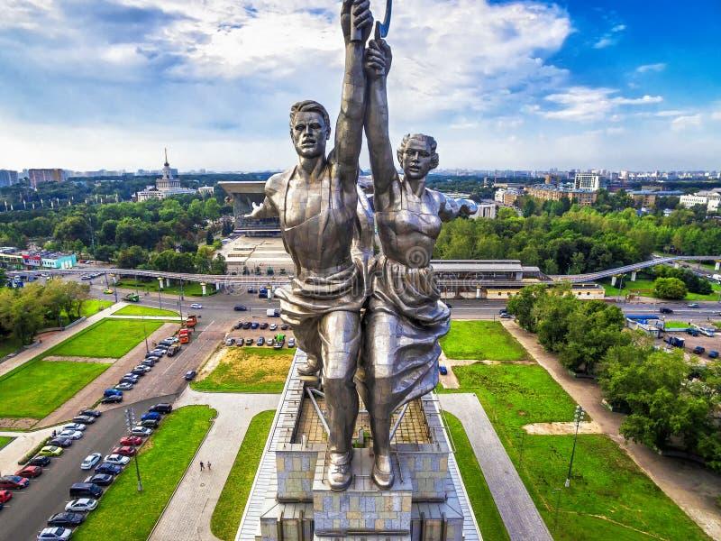 Известный советский работник памятника и совместный фермер, Москва стоковое фото