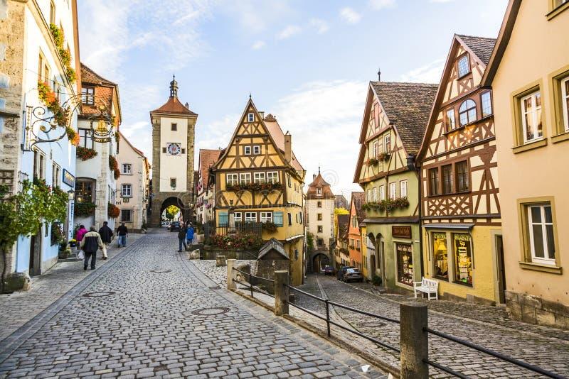 Известный старый городок Ротенбурга стоковые фотографии rf