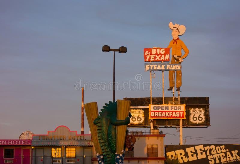Известный стейкхаус в Техасе стоковые изображения rf