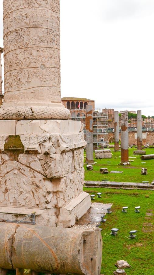 Download Известный форум в Риме - форум Trajans - туристическая достопримечательность Стоковое Изображение - изображение насчитывающей движение, rome: 81808105