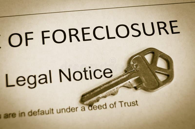извещение о foreclosure стоковые изображения rf