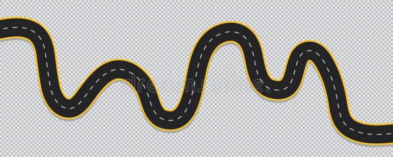 Извилистая дорога изолированная на прозрачной предпосылке бесплатная иллюстрация
