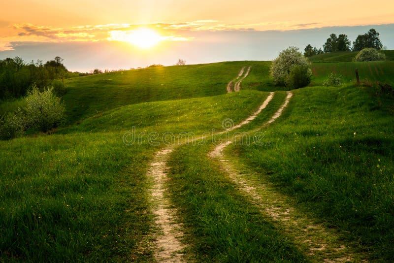 Извилистая дорога грязи стоковое изображение