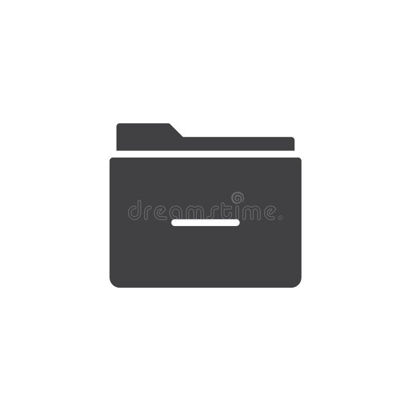 Извлеките вектор значка папки бесплатная иллюстрация