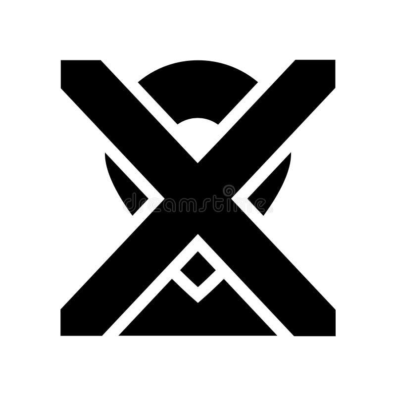 Извлеките значок положения Ультрамодный извлеките концепцию логотипа положения на whi бесплатная иллюстрация