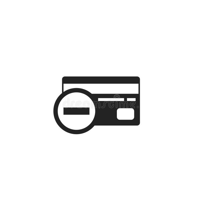 Извлеките значок, символ или логотип вектора глифа кредитной карточки иллюстрация вектора
