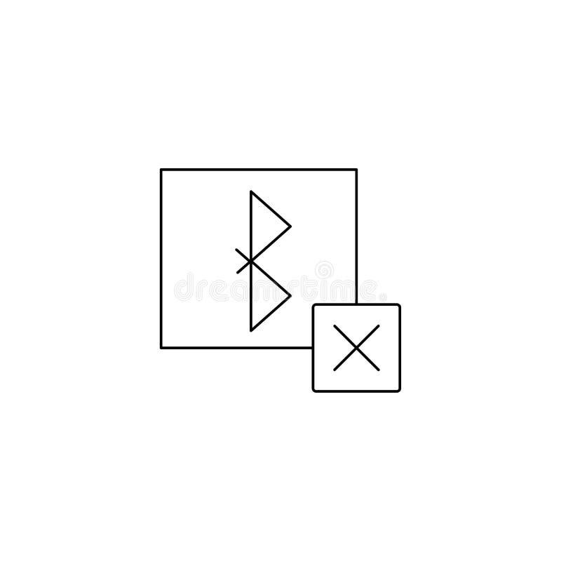 извлеките значок bluetooth Дизайн знака иллюстрация вектора