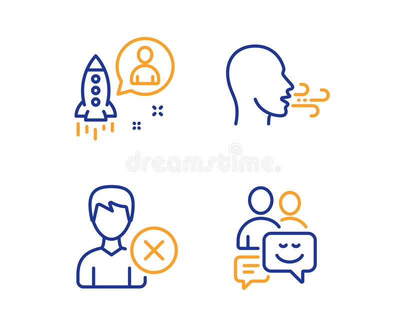 Извлеките счет, запуск и дыша набор значков тренировки E Потребитель удаления, разработчик, дыхание r иллюстрация вектора
