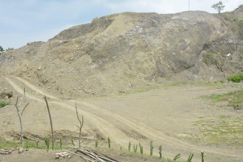 Извлечение смешивания горы на Mahayahay, Hagonoy, Davao del Sur, Филиппинах стоковое фото rf