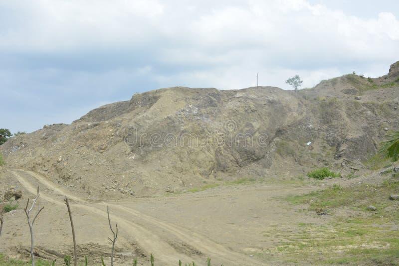 Извлечение смешивания горы на Mahayahay, Hagonoy, Davao del Sur, Филиппинах стоковое изображение rf